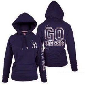 VS Pink bling Yankees hoodie